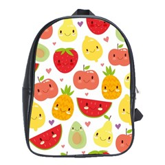 Happy Fruits Pattern School Bag (large) by allthingseveryday