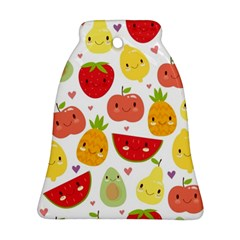 Happy Fruits Pattern Ornament (bell) by allthingseveryday