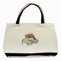 Monster Rat Hand Draw Illustration Basic Tote Bag (two Sides) by dflcprints