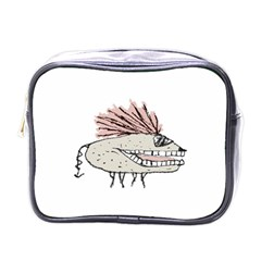 Monster Rat Hand Draw Illustration Mini Toiletries Bags by dflcprints