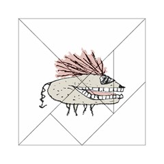 Monster Rat Hand Draw Illustration Acrylic Tangram Puzzle (6  X 6 ) by dflcprints