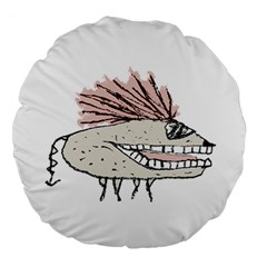 Monster Rat Hand Draw Illustration Large 18  Premium Round Cushions by dflcprints