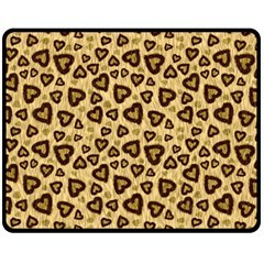 Leopard Heart 01 Fleece Blanket (medium)