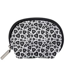Leopard Heart 02 Accessory Pouches (small)  by jumpercat