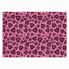 Leopard Heart 03 Large Glasses Cloth (2 Side) by jumpercat