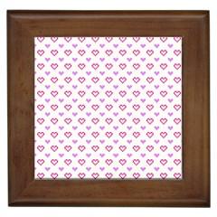Pixel Hearts Framed Tiles by jumpercat