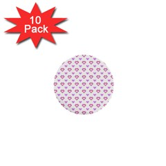 Pixel Hearts 1  Mini Buttons (10 Pack)  by jumpercat
