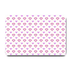 Pixel Hearts Small Doormat  by jumpercat