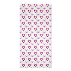 Pixel Hearts Shower Curtain 36  X 72  (stall)  by jumpercat