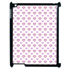 Pixel Hearts Apple Ipad 2 Case (black) by jumpercat