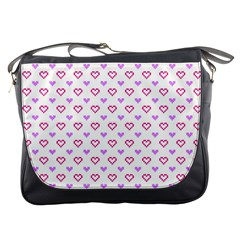Pixel Hearts Messenger Bags by jumpercat
