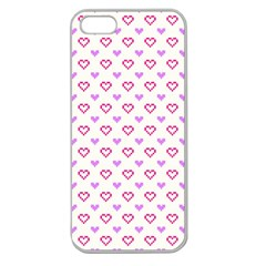 Pixel Hearts Apple Seamless Iphone 5 Case (clear) by jumpercat