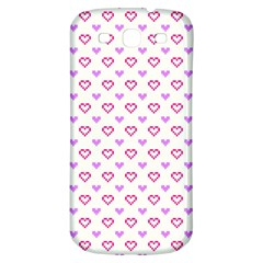 Pixel Hearts Samsung Galaxy S3 S Iii Classic Hardshell Back Case by jumpercat
