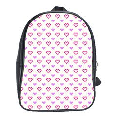 Pixel Hearts School Bag (xl) by jumpercat