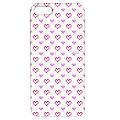 Pixel Hearts Apple Iphone 5 Hardshell Case With Stand by jumpercat