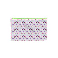 Pixel Hearts Cosmetic Bag (xs) by jumpercat