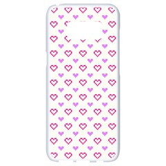 Pixel Hearts Samsung Galaxy S8 White Seamless Case by jumpercat