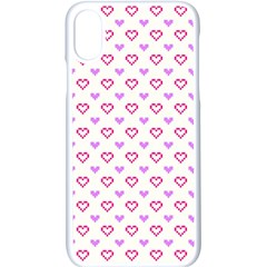 Pixel Hearts Apple Iphone X Seamless Case (white) by jumpercat