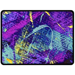 Ink Splash 01 Fleece Blanket (large)  by jumpercat