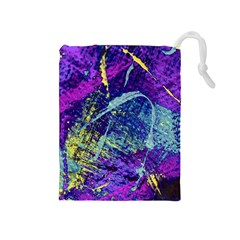 Ink Splash 01 Drawstring Pouches (medium)  by jumpercat