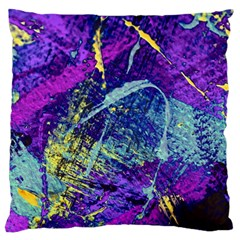 Ink Splash 01 Large Flano Cushion Case (two Sides)