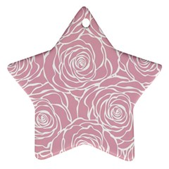 Pink Peonies Star Ornament (two Sides) by 8fugoso