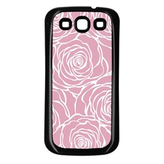 Pink Peonies Samsung Galaxy S3 Back Case (black) by 8fugoso