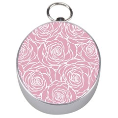 Pink Peonies Silver Compasses by 8fugoso