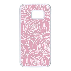 Pink Peonies Samsung Galaxy S7 White Seamless Case by 8fugoso