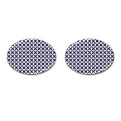 Kaleidoscope Tiles Cufflinks (oval) by jumpercat
