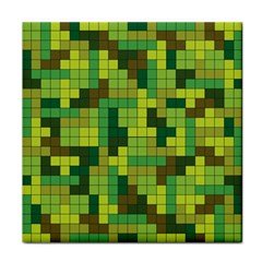 Tetris Camouflage Forest Tile Coasters by jumpercat