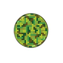 Tetris Camouflage Forest Hat Clip Ball Marker (4 Pack) by jumpercat