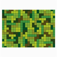Tetris Camouflage Forest Large Glasses Cloth by jumpercat