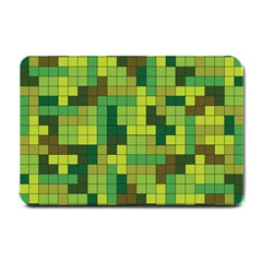 Tetris Camouflage Forest Small Doormat  by jumpercat