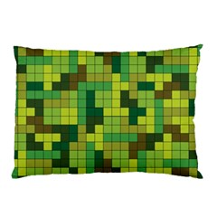 Tetris Camouflage Forest Pillow Case by jumpercat