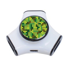Tetris Camouflage Forest 3 Port Usb Hub by jumpercat