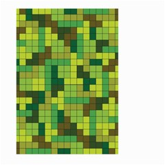Tetris Camouflage Forest Large Garden Flag (two Sides) by jumpercat