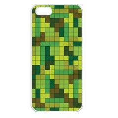 Tetris Camouflage Forest Apple Iphone 5 Seamless Case (white) by jumpercat