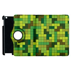 Tetris Camouflage Forest Apple Ipad 3/4 Flip 360 Case by jumpercat