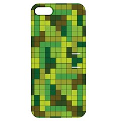 Tetris Camouflage Forest Apple Iphone 5 Hardshell Case With Stand by jumpercat