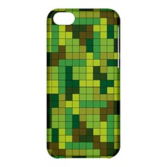 Tetris Camouflage Forest Apple Iphone 5c Hardshell Case by jumpercat