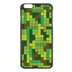 Tetris Camouflage Forest Apple Iphone 6 Plus/6s Plus Black Enamel Case by jumpercat