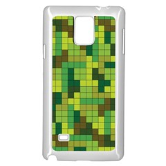 Tetris Camouflage Forest Samsung Galaxy Note 4 Case (white) by jumpercat