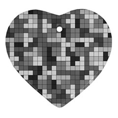 Tetris Camouflage Urban Ornament (heart) by jumpercat