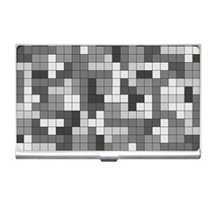 Tetris Camouflage Urban Business Card Holders by jumpercat