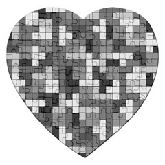 Tetris Camouflage Urban Jigsaw Puzzle (heart) by jumpercat