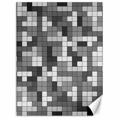 Tetris Camouflage Urban Canvas 36  X 48   by jumpercat
