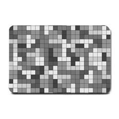 Tetris Camouflage Urban Small Doormat  by jumpercat