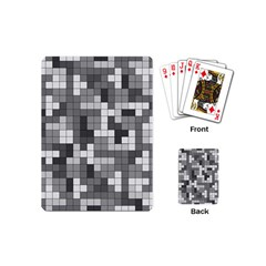 Tetris Camouflage Urban Playing Cards (mini)  by jumpercat