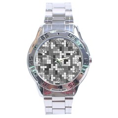 Tetris Camouflage Urban Stainless Steel Analogue Watch by jumpercat